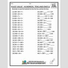 Printablemathworksheetsplacevaluehundredstensones6gif 790×1,022 Pixels  Math Pinterest
