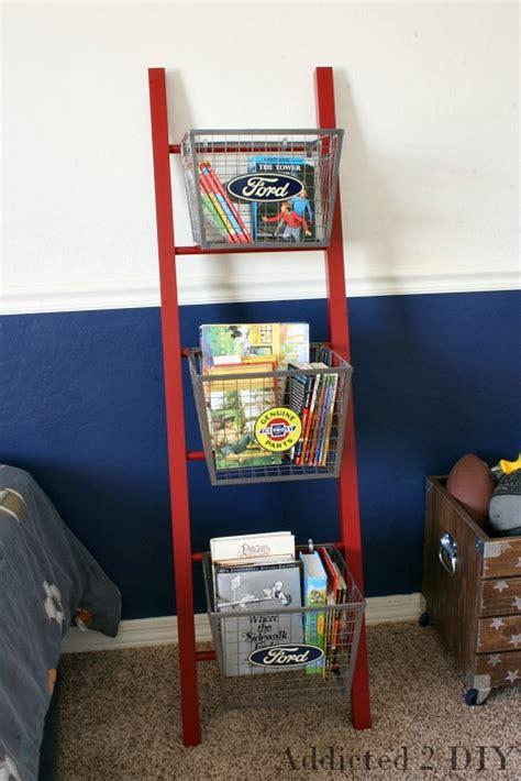 pb teen inspired ladder shelf addicted  diy