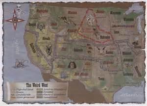 Old Wild West Map