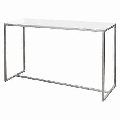 Console Table Slim Steel Glass Gillmore Space