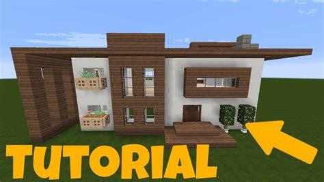 Minecraft Großes Haus  Weißbraun Bauen Tutorial