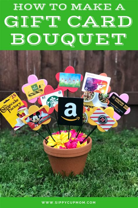 How To Make A Gift Card Bouquet  Sippy Cup Mom
