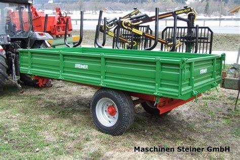 traktor anhänger gebraucht einachser sonstige steiner 3 seitenkipper 3 5to einachser landwirt
