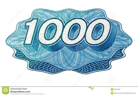 One Thousand Number Royalty Free Stock Photography - Image