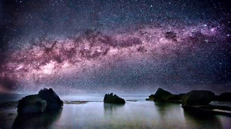 Night Sky Beautiful Earth Milky Way Galaxy