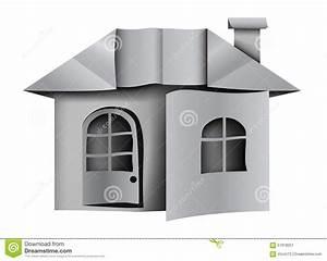 Origami Maison En Papier : architecture empaquetez la maison origami illustration de ~ Zukunftsfamilie.com Idées de Décoration
