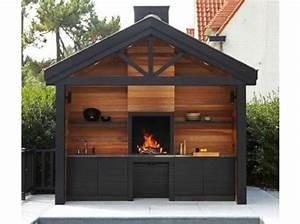 cuisine exterieur bois universal metal fire jardinage With idee amenagement exterieur maison 5 gazebo et abri soleil des idees pour jardin avec piscine