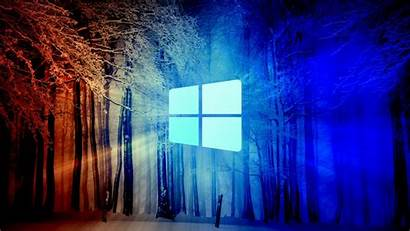 Windows Technology Snow Forest 1366 768 Wallpapers
