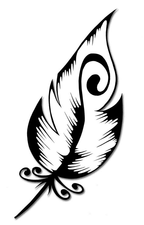 Would want the feather longer; I, also, like the swirl