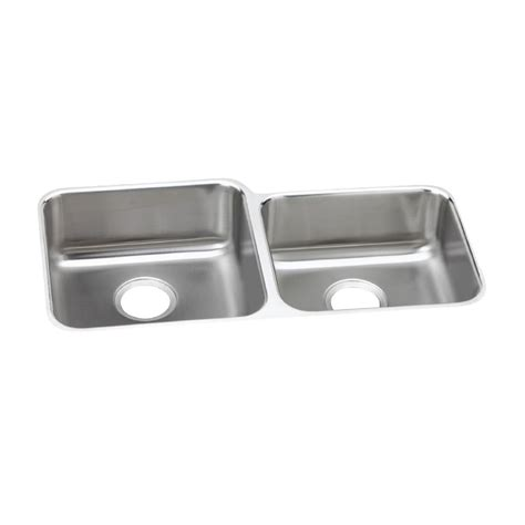 elkay undermount kitchen sink elkay lustertone undermount stainless steel 31 in 7051