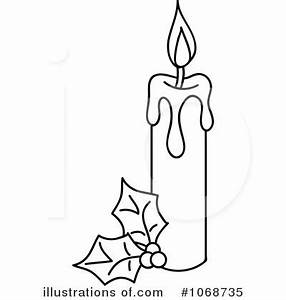 Christmas Candle Clipart #1068735 - Illustration by Rosie ...