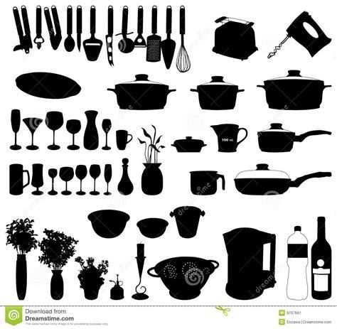 cuisine kitchenaid objets de cuisine vecteur de silhouette image stock image 9767661