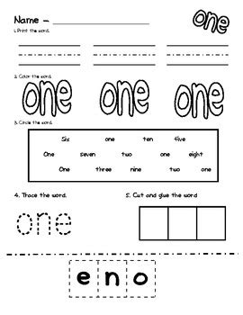 number word worksheets by first grade is a hoot tpt