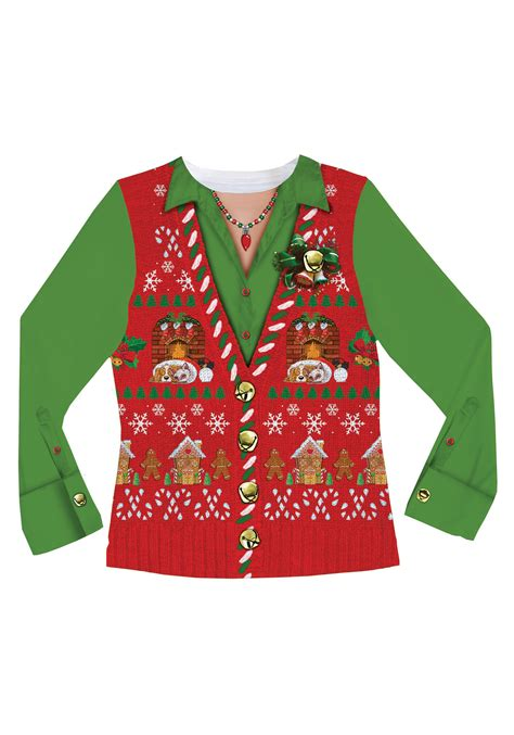 scary christmas sweaters women 39 s ugly christmas sweater vest shirt