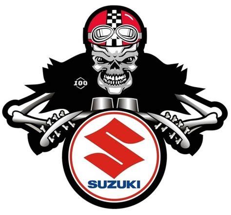 suzuki motorcycle emblem suzuki dem bones cafe racer motorcycle sticker
