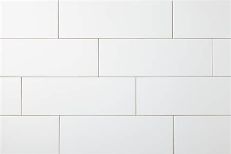 white glossy tile white subway tile