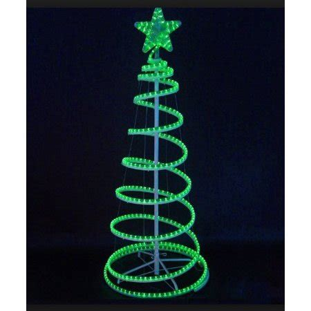 green led lighted outdoor spiral rope light christmas