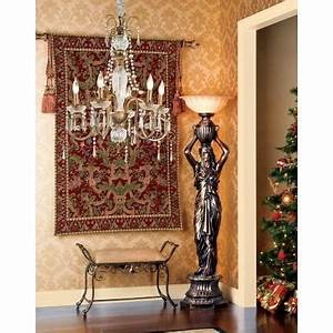 caryatid maiden torchiere floor lamp With mermaid torchiere floor lamp