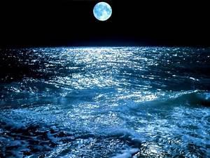 Beautiful, Blue, Moon, Blue, Moon, U2013, Nature, Oceans, Hd, Desktop, Wallpaper