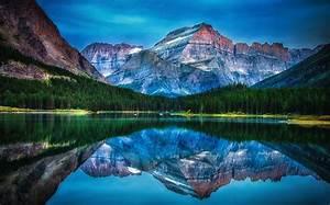 Lake, Mountain, Forest, Reflection, Water, Sunrise