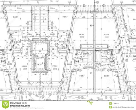 architectural plans cad architectural plan royalty free stock photo image