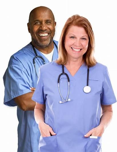 Nurse Healthy Female Male Nurses Nation Health