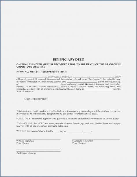 missouri beneficiary deed form form resume examples