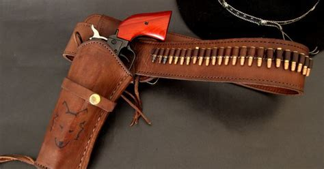 bull creek holster and belt heritage rider single action revolver black cowboy