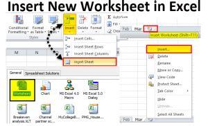 insert  worksheet  excel methods   insert