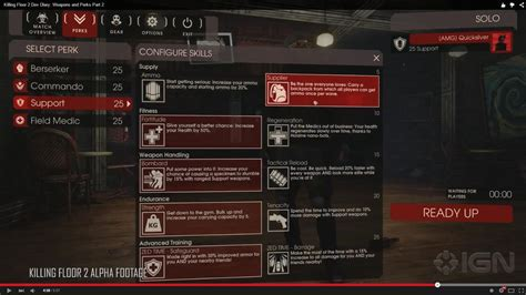 killing floor 2 perks killing floor 2 dev diary weapons and perks part 2 killingfloor