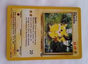 original jungle pikachu pokemon card for