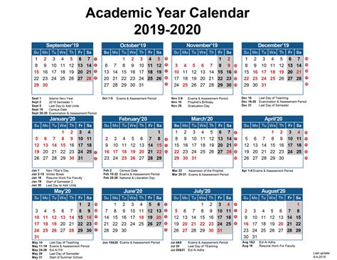 academic calendar australian college kuwait