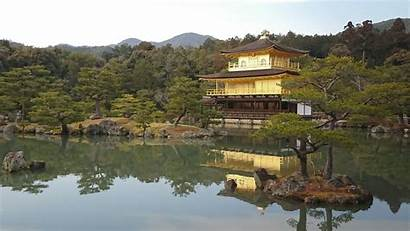 Japan Lake Kyoto Landscape Traditional Golden Architecture