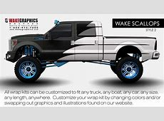 Truck Wraps Wake Scallops Style 2 Wake Graphics