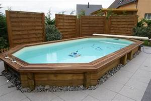 Piscine Semi Enterré Bois : construire piscine bois semi enterr e ~ Premium-room.com Idées de Décoration