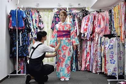 Kimono Japanese Yukata Traditional Travel Beauty Rental