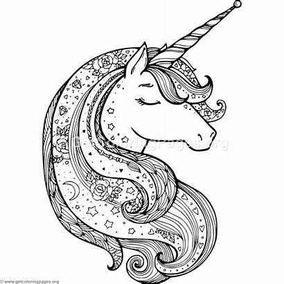 Unicorn Coloring Zentangle Pages Getcoloringpages Watermark