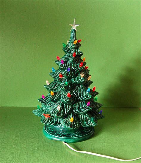 green ceramic christmas tree with lights vintage green ceramic christmas tree lighted ceramic tree