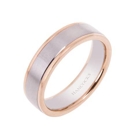 platinum and rose gold gents wedding ring hancocks jewellers