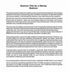 sample startup business plan template 16 free documents With start up business plans free templates