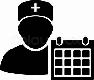 Doctor Appointment vector icon. Style is flat symbol ...