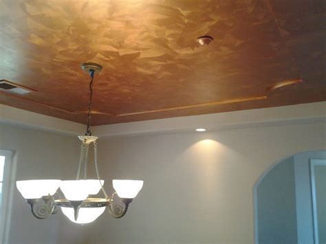 how to paint a brushed copper metallic faux finish