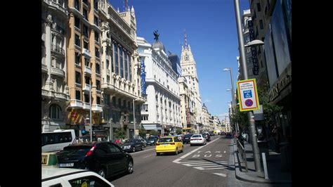 Downtown Streets In Madrid Spain Youtube