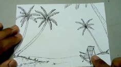 paso   aprender  dibujar paisajes  lapiz dibujo
