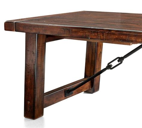 pottery barn kirkwood dining table benchwright extending dining table rustic mahogany