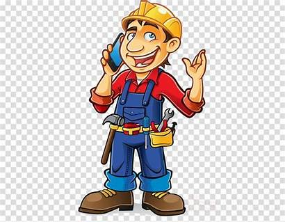 Worker Construction Cartoon Clipart Workers Finger Transparent
