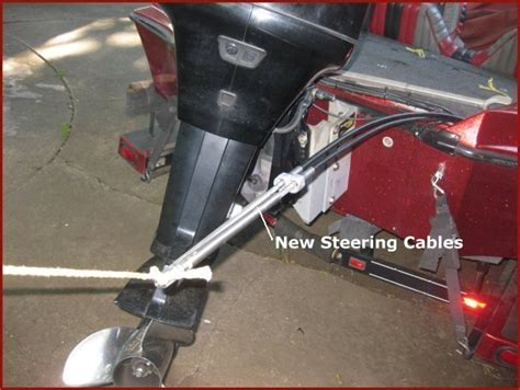Malibu Boat Steering Cable Replacement by How To Remove Steering Cable From Outboard Motor
