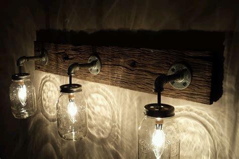 barnwood jar light fixture