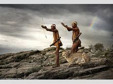 San tribe hunt with Cheetah in Namibia amazing pics