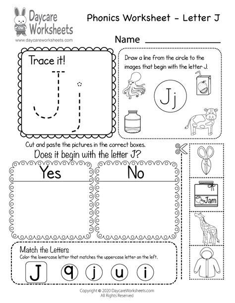 letter  phonics worksheet  preschool beginning